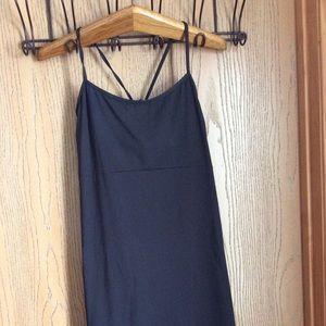 Athleta summer beach mi length black dress